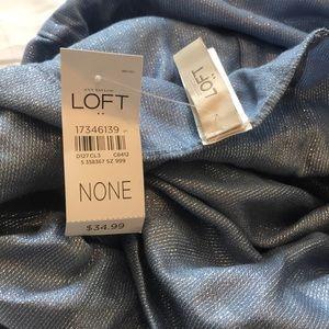 NWT loft metallic infinity scarf